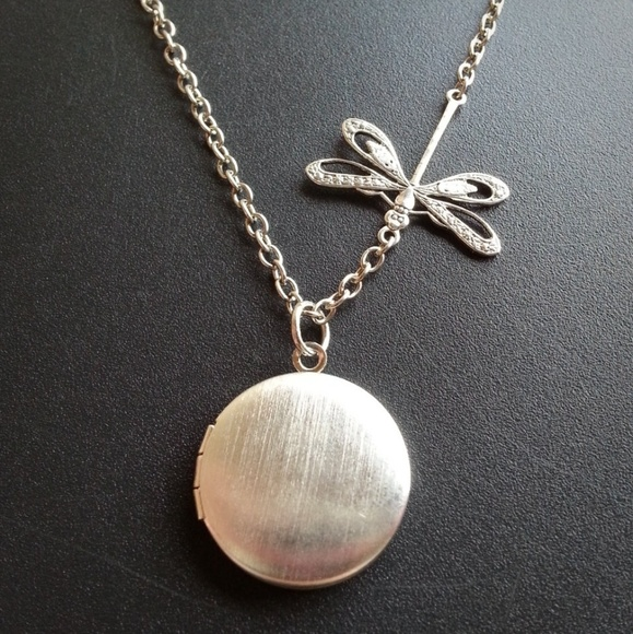 Handmade - ArtisanJewelryGifts Jewelry - Sterling Silver Dragonfly Locket Necklace